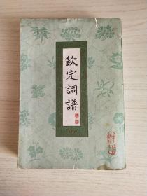 钦定词谱第一册