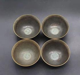 福禄寿喜铜碗