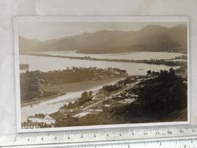 民国时期杭州西湖六桥烟柳风景原版老照片