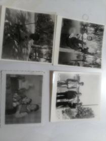 佩戴毛主席像章照片4张