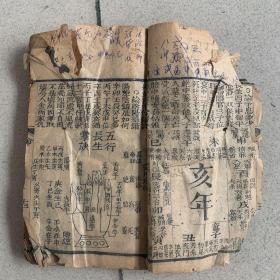 御定万年书(清代 线装)从十三页到七十一页