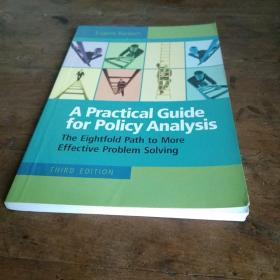英文版a practical guide for policy analysis政策分析实用指南