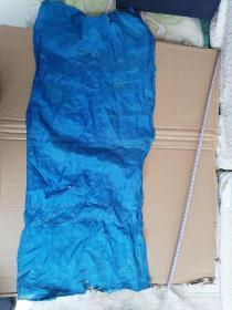 清代丝绸织品,浅蓝色绫布,70/33cm。可做衣物修复,古籍函套,包角