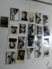 黑白一寸照片21张