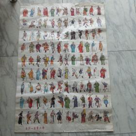 二开年画,水浒一百零八将(颜梅华、张梅梧 作)1983年上海人民美术一版2印