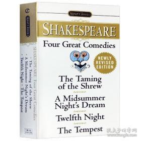正版 莎士比亚四大喜剧 Shakespeare 英文原版小说 Four Great Comedies 仲夏夜之梦 第十二夜 驯悍记 暴风雨 英文原版