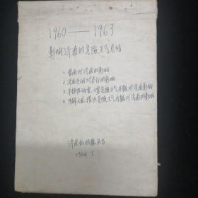 1960年—1963年影响济南的危险天气总结•1964年济南气象台 编•手写本!