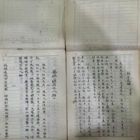 毛笔抄本,散文抄集/诗词赋抄(1975年)