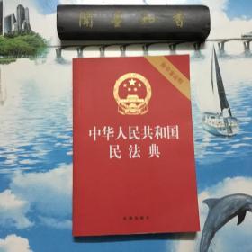 正版现货  中华人民共和国民法典(32开压纹烫金附草案说明)2020年6月   内页无写划