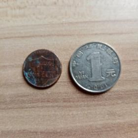 外国钱币 美国2013年硬币(面值1)(YB4)