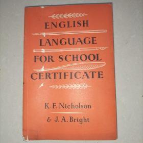 ENGLISH LANGUAGE FOR SCHOOL CERTIFICATE