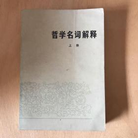 哲学名词解释上册