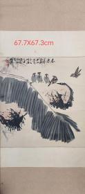 中国陶瓷艺术大师李梓源先生早期手绘(展览)成名代表作芭蕉小鸟