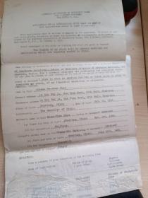 民国时期往来电报:南开女子中学、上海国立医学院毕业女生赵德贞申请美国女子联合医学院电报稿(一厚叠)附美国明尼苏达大学医学院回信封一枚,1946年邮戳