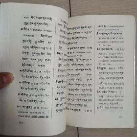 藏汉拉对照藏药词汇(全一册)〈1998年青海民族出版社发行〉