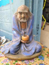 达摩祖师 彩瓷摆件