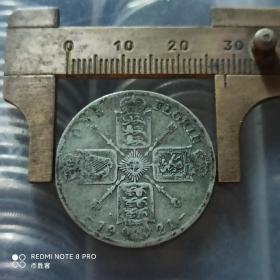 1921年英国1福林 乔治五世 外国银币外国硬币世界纪念币