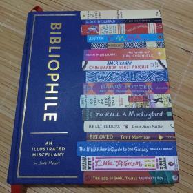 正版藏书家 经典好书与书店推荐插画集英文原版 Bibliophile 全彩插图精装