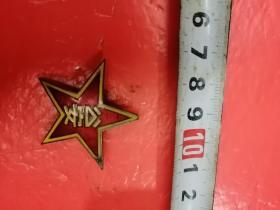 50代公安帽徽,珐琅,有证号