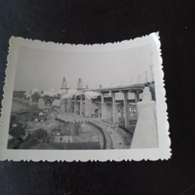 南京长江大桥老照片一张