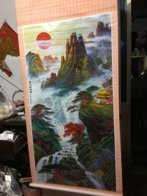 年画《寿山朝阳图》