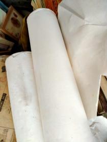 白宣纸两卷!约10多斤未裁切
