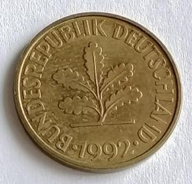 西德10芬尼硬币保真