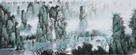 著名名画家《曹玉东》山水画,桂林风景!