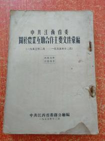 中共江西省委关于农业互助合作主要文件汇编1953.2-1955.12【注意:止于460页,后面缺失数页。】