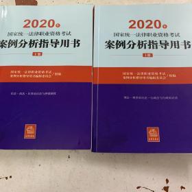 司法考试2020国家统一法律职业资格考试:案例分析指导用书(套装共2册)