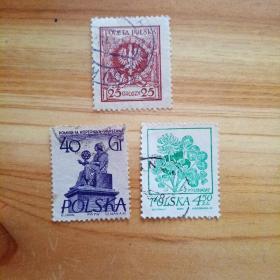 外国邮票 波兰信销邮票3枚(乙22-4)