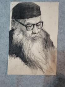 七八十年代素描人物 原稿真迹(著名老画家,西安美院高材生作品)