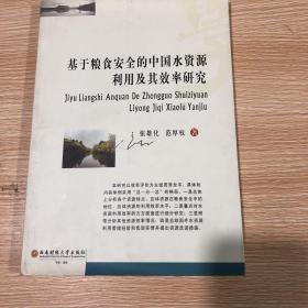基于粮食安全的中国水资源利用及其效率研究