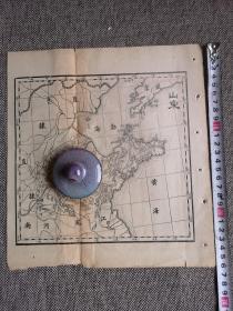 清代或者民国老地图《山东省地图》一份,26.5*24厘米,山东史料实拍现货