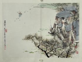 刘懋善 尺寸 69/49 镜片 1942年生,江苏苏州人,1962年毕业于苏州工艺美术专科学校。早年学习西洋画,对欧洲古典艺术大师的作百居图中《小巷》品和现代印象派绘画有深刻而广泛的研究。后来转学中国画,从事山水画创作。