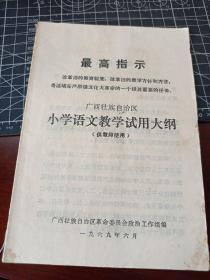广西壮族自治区小学语文试用教学大纲