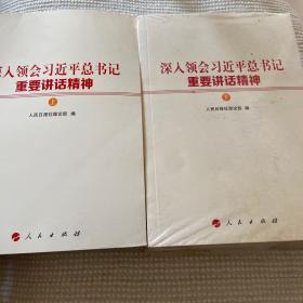 深入领会习近平总书记重要讲话精神上下两册