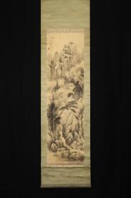 回流字画 回流书画《山水画》作者:船井秋浦,日本画家,师从矢野桥村;日本回流字画 日本回流书画