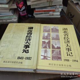 湖北省经济大事记【1949-1987】、【1988-1994】