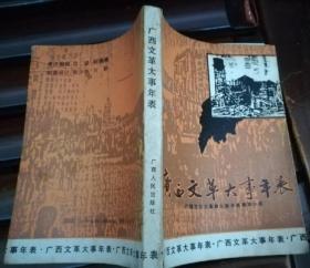记述广西文革时期实录 珍藏历史 文献收藏级史料《广西文革大事年表.图文版》正版书 好品相