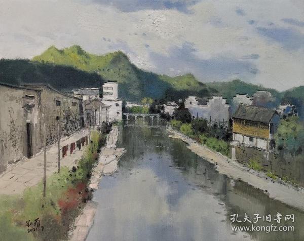 刘虎 可合影 油画 山水