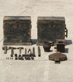 清代银匠工具一套 ,全品,工具33件工具,民俗博物馆展览