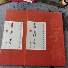 中国古代碑帖经典彩色放大本:北魏·龙门二十品(上下)