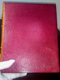 福楼拜《包法利夫人》,私人定制豪华全皮全彩插图本,法语,1953.《Madame Bovary》, Fine Binding, French version, By Gustave Flaubert, illustrated by Brunelleschi, First edition, Paris, 1953