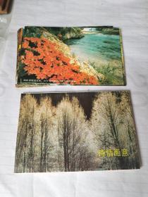 诗情画意(一)明信片全十枚