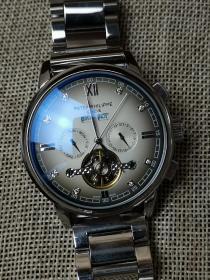 机械腕表 百达翡丽腕表 男士复古系列 精钢表带 全自动机械机芯 外观时尚 走时精准