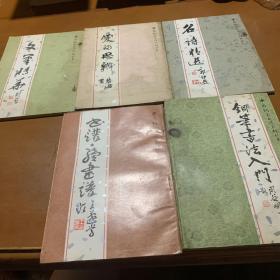 中國鋼筆書法系列叢書(5本合售)