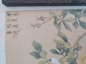 书画之三十七 旧绢花鸟画一幅
