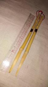 老毛笔;日本长锋竹笔   共两支  全品相