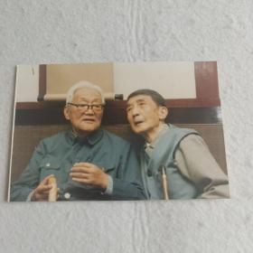 巴金与沙汀,合影照片1987年,新华社摄影记者吴祖政